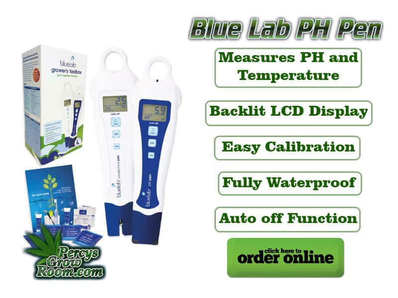 Blue Lab PH Pen, Measures PH and Temperature, Backlit LED Display, Easy Calibration, Fully waterproof, auto off function, Cannabis growers forum & community, How to grow cannabis, how to grow weed, a step by step guide to growing weed, cannabis growers forum, need help with sick plant, what's wrong with my cannabis plant, percys Grow Room, the Grow Room, percys Grow Guides, we'd growing forum, weed growers community, how to grow weed in coco, when is my cannabis plant ready for harvest, how to feed my cannabis plant, beginners guide to growing weed, how to grow weed for personal use, cannabis plant deficiency, how to germinate cannabis seeds, where to buy cannabis seeds, best weed growers website, how to dry cannabis