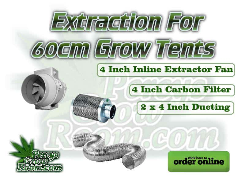 Extraction for a 60cm grow tent, 4 inch carbon filter, 4 inch inline extractor, 4 inch ducting, Cannabis growers forum & community, How to grow cannabis, how to grow weed, a step by step guide to growing weed, cannabis growers forum, need help with sick plant, what's wrong with my cannabis plant, percys Grow Room, the Grow Room, percys Grow Guides, we'd growing forum, weed growers community, how to grow weed in coco, when is my cannabis plant ready for harvest, how to feed my cannabis plant, beginners guide to growing weed, how to grow weed for personal use, cannabis plant deficiency, how to germinate cannabis seeds, where to buy cannabis seeds, best weed growers website, how to dry cannabis