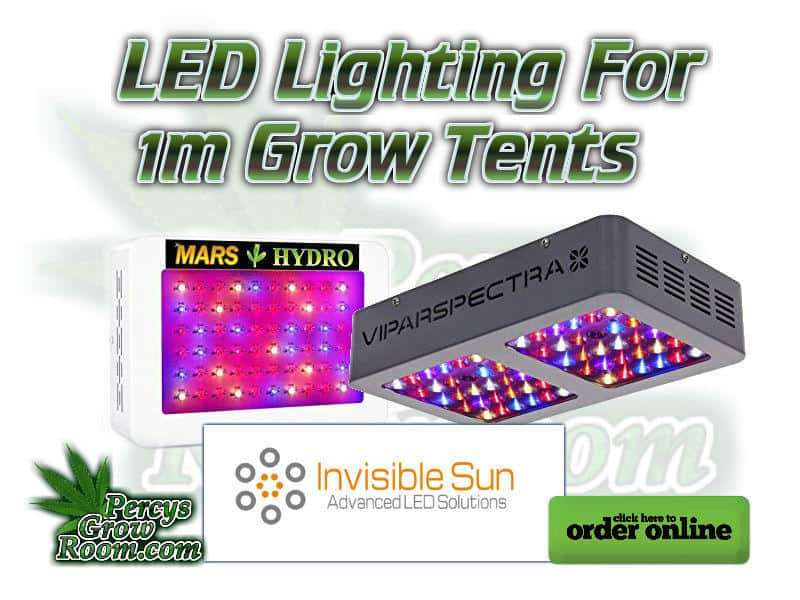LED lighting for 1m grow tent