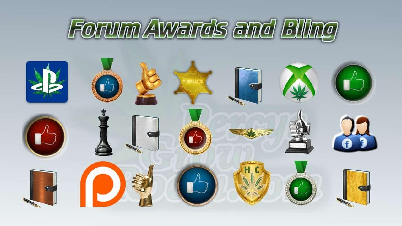 forum awards and bling, percys gorw room, cannabis growers forum