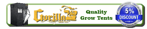 Gorilla grow tents banner for percys grow room, Discount code for grow tent, How to grow weed, best grow tents for growing weed