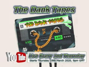 The Dank Tapes logo, Podcast, Stoner Podcasts, Cassette Tape with youtube logo, Percys Grow Room, Learn To grow Cannabis Podcasts