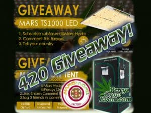 420 giveaway 2020, grow tent, grow light, led grow light, mars hydro, percys grow room,