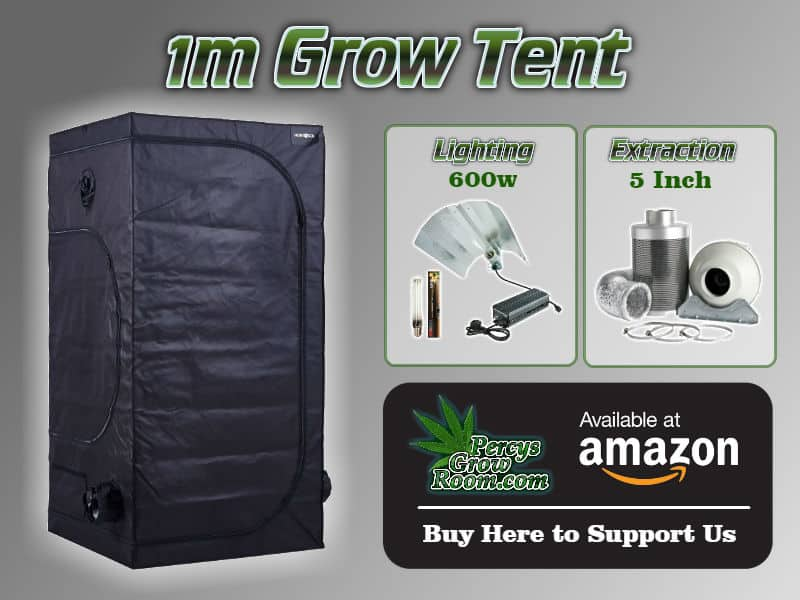1m grow tent, with 600w lighting, and 5 inch extraction kit, percys grow room, cannabis growers forum, learn how to grow weed,
