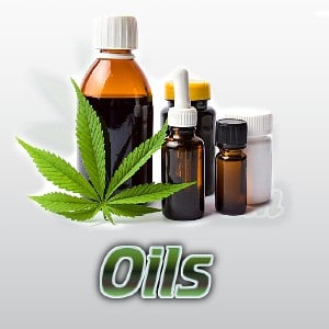 cannabis oils and lotions, bottles of oil with cannabis leaf, cannabis growers forum, percys grow room