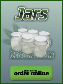 Jars for storing cannabis, Percys Grow Room,