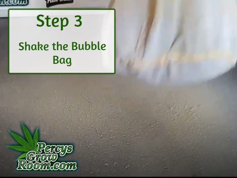shaking a bubble make to make dry ice hash, percys grow room, cannabis growing forums