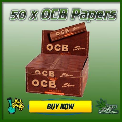buy box of OCB papers, UK, ali bongos