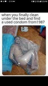 condom under bed