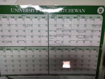 Filled out calendar