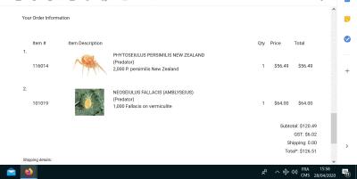 spidermite order