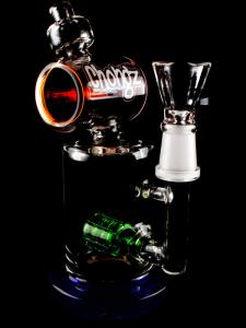chongz molly oil and flower herb weed cannabis marijuana glass bong dome nail banger multi colour barrel percolator diffusor main
