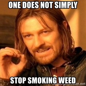 one does not simply stop smoking weed